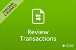 Review Transactions